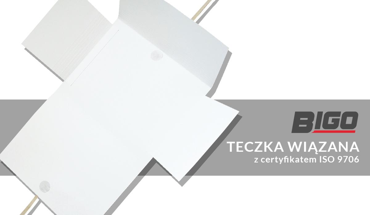 Bigo Teczka wiązana z certyfikatem ISO 9706