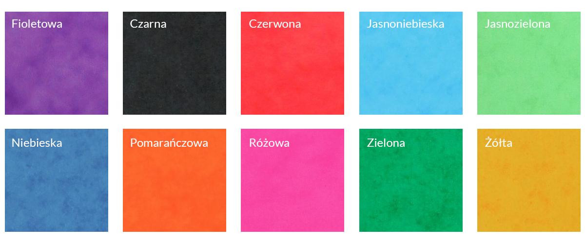 Bigo - Wzornik kolorów: teczki preszpanowe