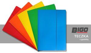 Bigo - Teczka kolorowa z gumką